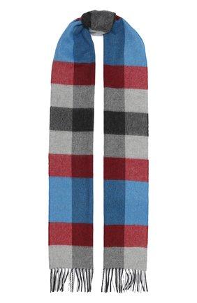 Мужской кашемировый шарф JOHNSTONS OF ELGIN синего цвета, арт. WA000016 | Фото 1