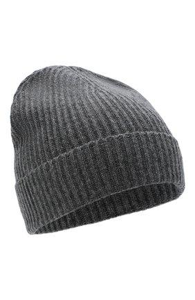 Мужская кашемировая шапка JOHNSTONS OF ELGIN темно-серого цвета, арт. HAE01941 | Фото 1