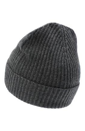 Мужская кашемировая шапка JOHNSTONS OF ELGIN темно-серого цвета, арт. HAE01941 | Фото 2