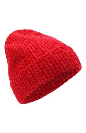 Мужская кашемировая шапка JOHNSTONS OF ELGIN красного цвета, арт. HAE01941 | Фото 1 (Материал: Кашемир, Шерсть; Кросс-КТ: Трикотаж)