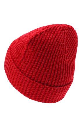 Мужская кашемировая шапка JOHNSTONS OF ELGIN красного цвета, арт. HAE01941 | Фото 2 (Материал: Кашемир, Шерсть; Кросс-КТ: Трикотаж)