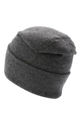 Мужская кашемировая шапка JOHNSTONS OF ELGIN темно-серого цвета, арт. HAE02655 | Фото 2