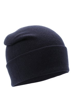 Мужская кашемировая шапка JOHNSTONS OF ELGIN темно-синего цвета, арт. HAE02655 | Фото 1 (Материал: Кашемир, Шерсть; Кросс-КТ: Трикотаж)
