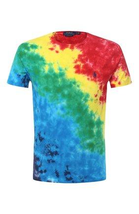 Мужская хлопковая футболка POLO RALPH LAUREN разноцветного цвета, арт. 710803544   Фото 1