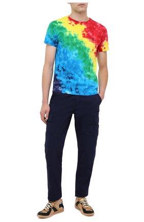 Мужская хлопковая футболка POLO RALPH LAUREN разноцветного цвета, арт. 710803544   Фото 2
