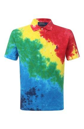 Мужское хлопковое поло POLO RALPH LAUREN разноцветного цвета, арт. 710800105 | Фото 1