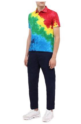 Мужское хлопковое поло POLO RALPH LAUREN разноцветного цвета, арт. 710800105 | Фото 2