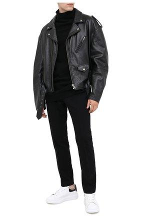 Мужские кожаные кеды ALEXANDER MCQUEEN белого цвета, арт. 625162/WHYB8 | Фото 2