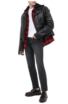 Мужской кожаные дерби ALEXANDER MCQUEEN черного цвета, арт. 625194/WHX5F | Фото 2