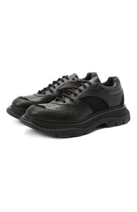 Мужские комбинированные кроссовки ALEXANDER MCQUEEN черного цвета, арт. 627222/WHRH5 | Фото 1