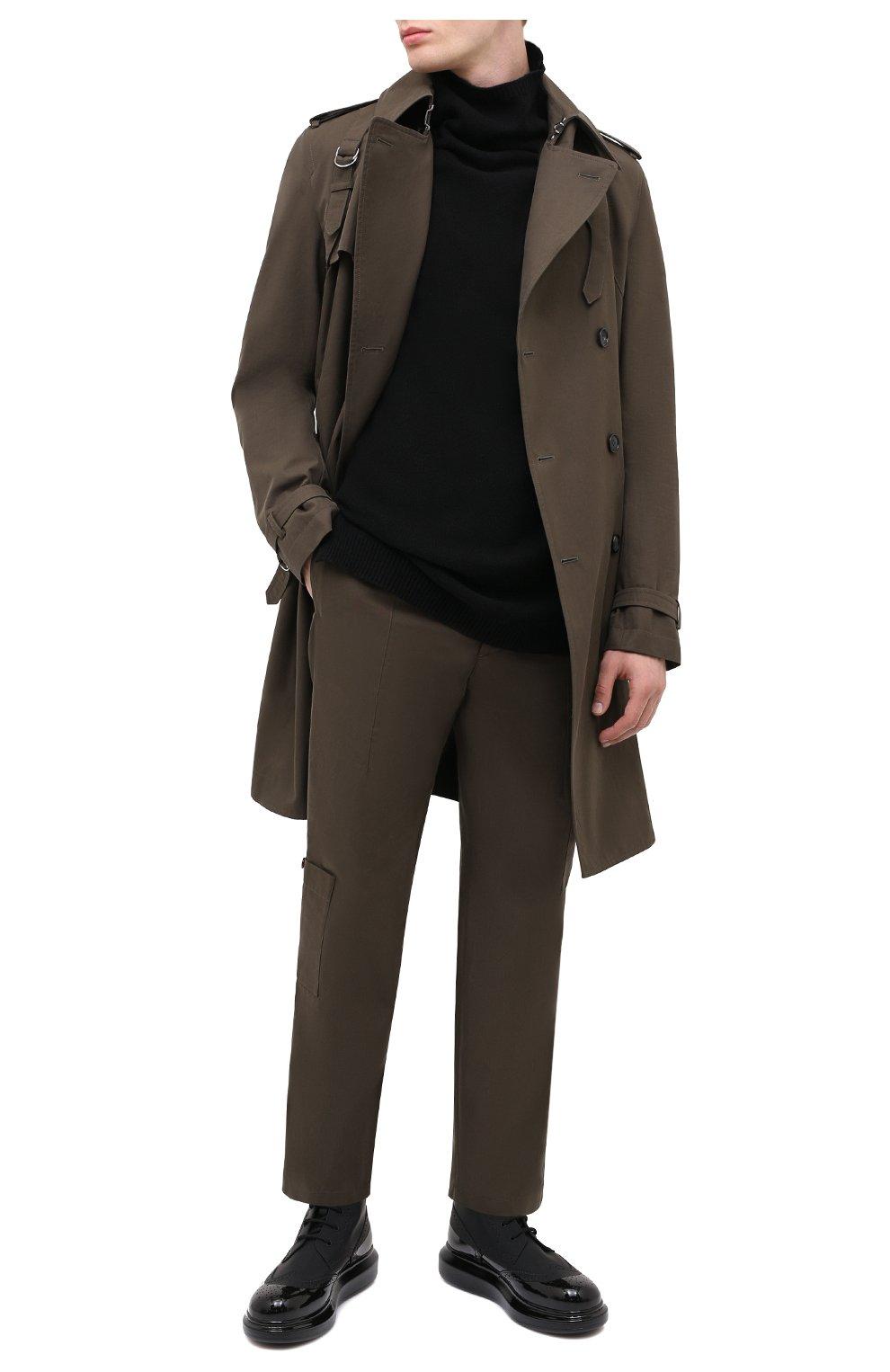 Мужские кожаные ботинки ALEXANDER MCQUEEN черного цвета, арт. 628810/WHYK2   Фото 2