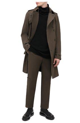 Мужские кожаные ботинки ALEXANDER MCQUEEN черного цвета, арт. 628810/WHYK2 | Фото 2