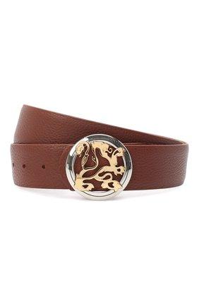 Мужской кожаный ремень ZILLI коричневого цвета, арт. MJL-CLAQE-01805/0035 | Фото 1
