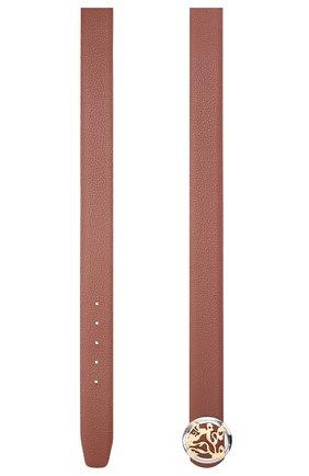 Мужской кожаный ремень ZILLI коричневого цвета, арт. MJL-CLAQE-01805/0035 | Фото 2