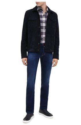 Мужские джинсы JACOB COHEN синего цвета, арт. J688 C0MF 02048-W2/54 | Фото 2