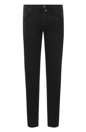 Мужские джинсы JACOB COHEN черного цвета, арт. J688 C0MF 01789-W2/54 | Фото 1