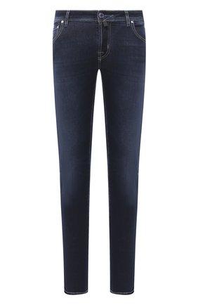 Мужские джинсы JACOB COHEN темно-синего цвета, арт. J622 C0MF 02050-W1/54 | Фото 1