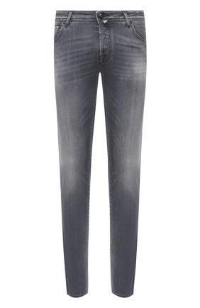 Мужские джинсы JACOB COHEN серого цвета, арт. J622 C0MF 01578-W2/54 | Фото 1