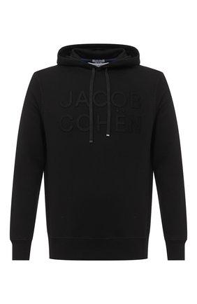 Мужской хлопковое худи JACOB COHEN черного цвета, арт. J4097 02201-L/54 | Фото 1