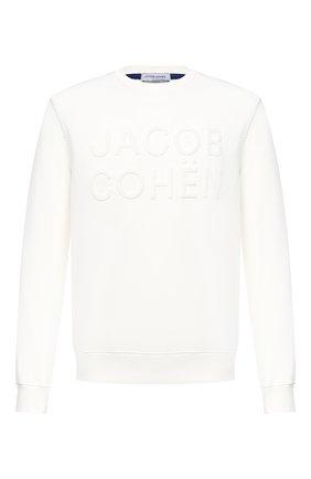 Мужской хлопковый свитшот JACOB COHEN белого цвета, арт. J4096 02201-L/54 | Фото 1