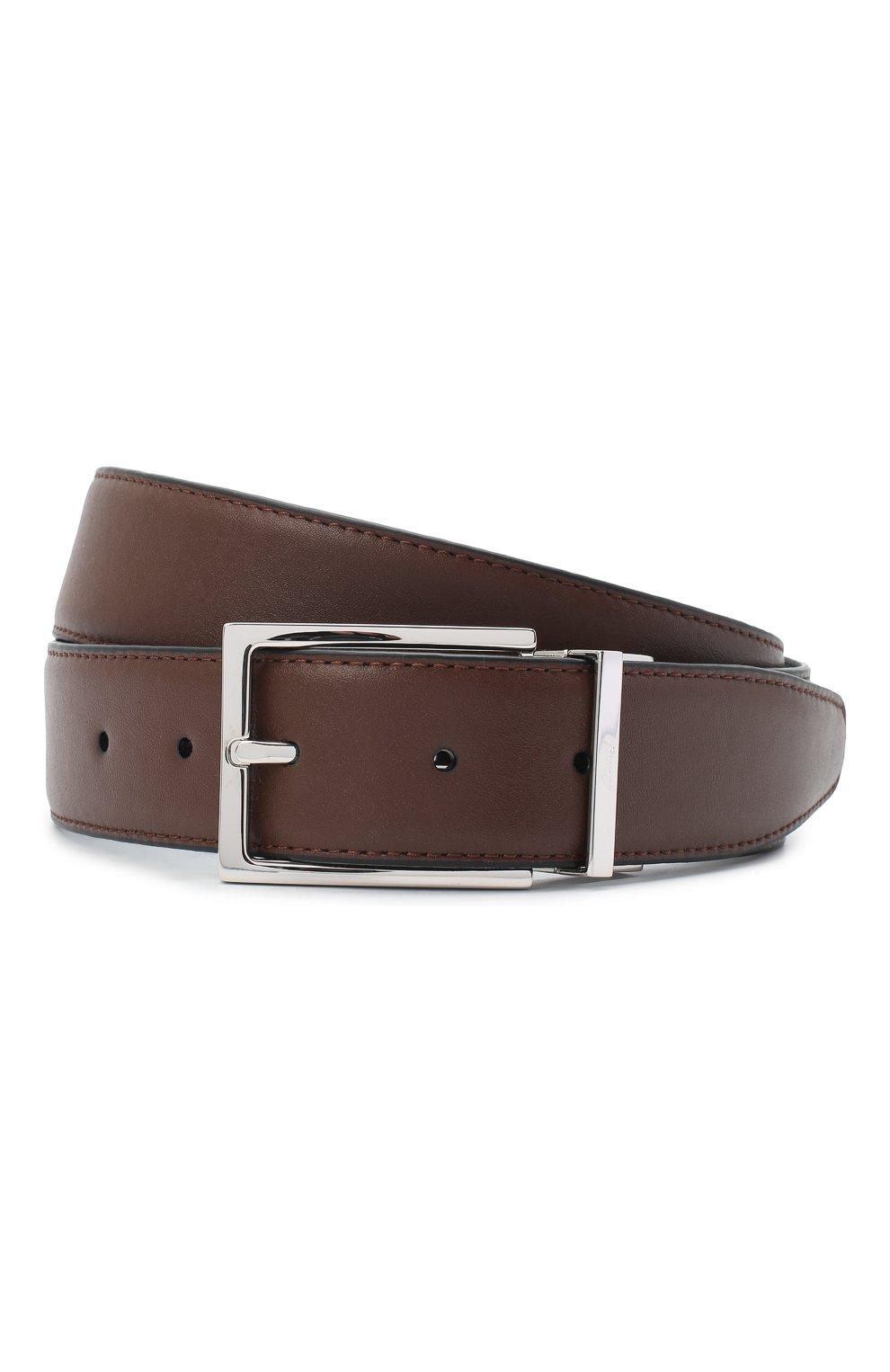 Мужской кожаный ремень BRIONI коричневого цвета, арт. 0BAQ0L/P9721 | Фото 1