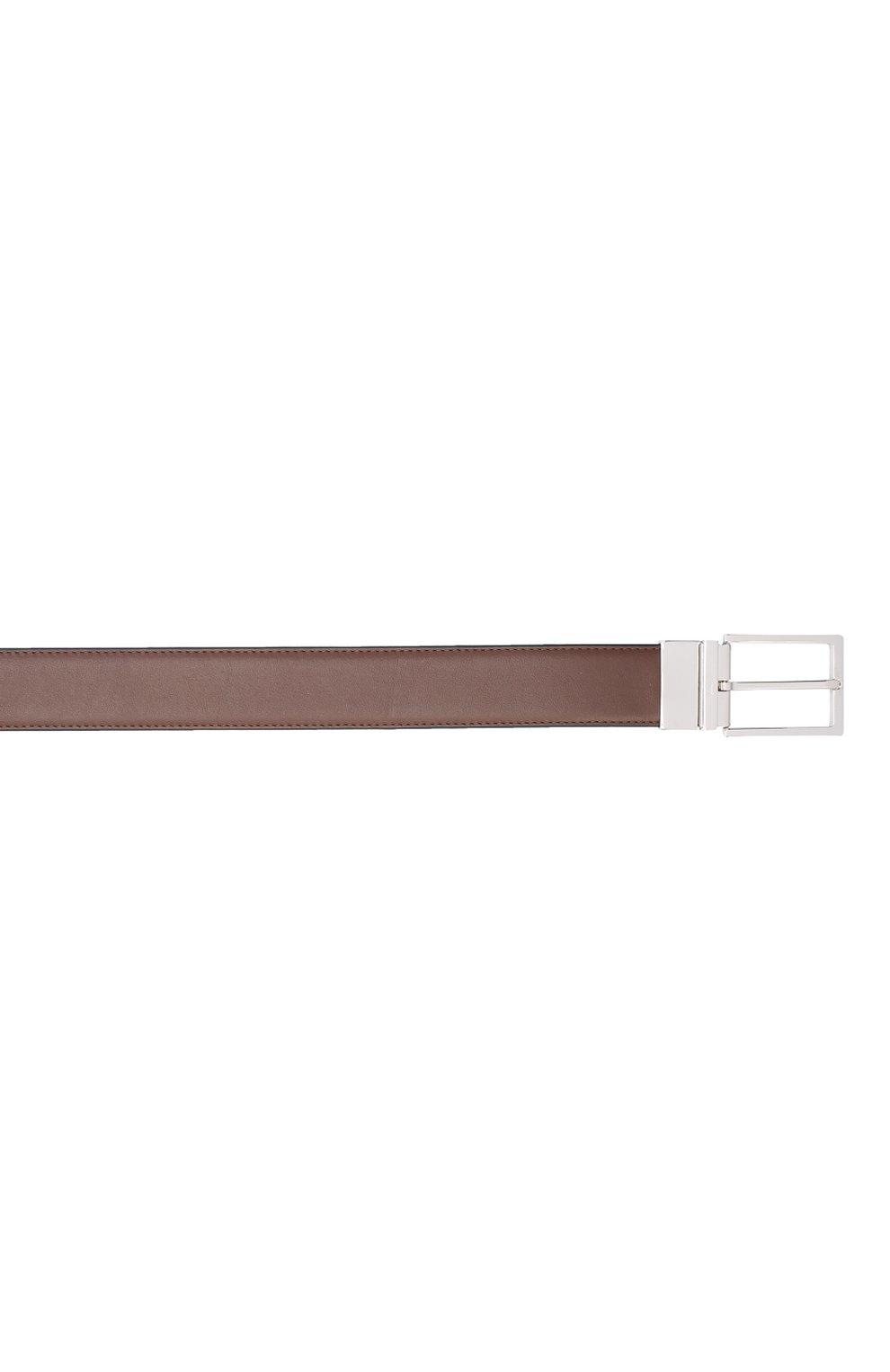 Мужской кожаный ремень BRIONI коричневого цвета, арт. 0BAQ0L/P9721 | Фото 3