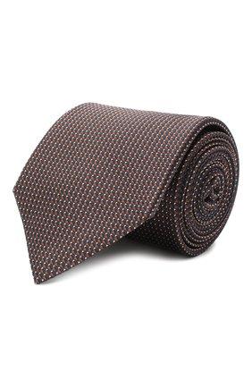 Мужской шелковый галстук BRIONI коричневого цвета, арт. 062I00/0943T | Фото 1