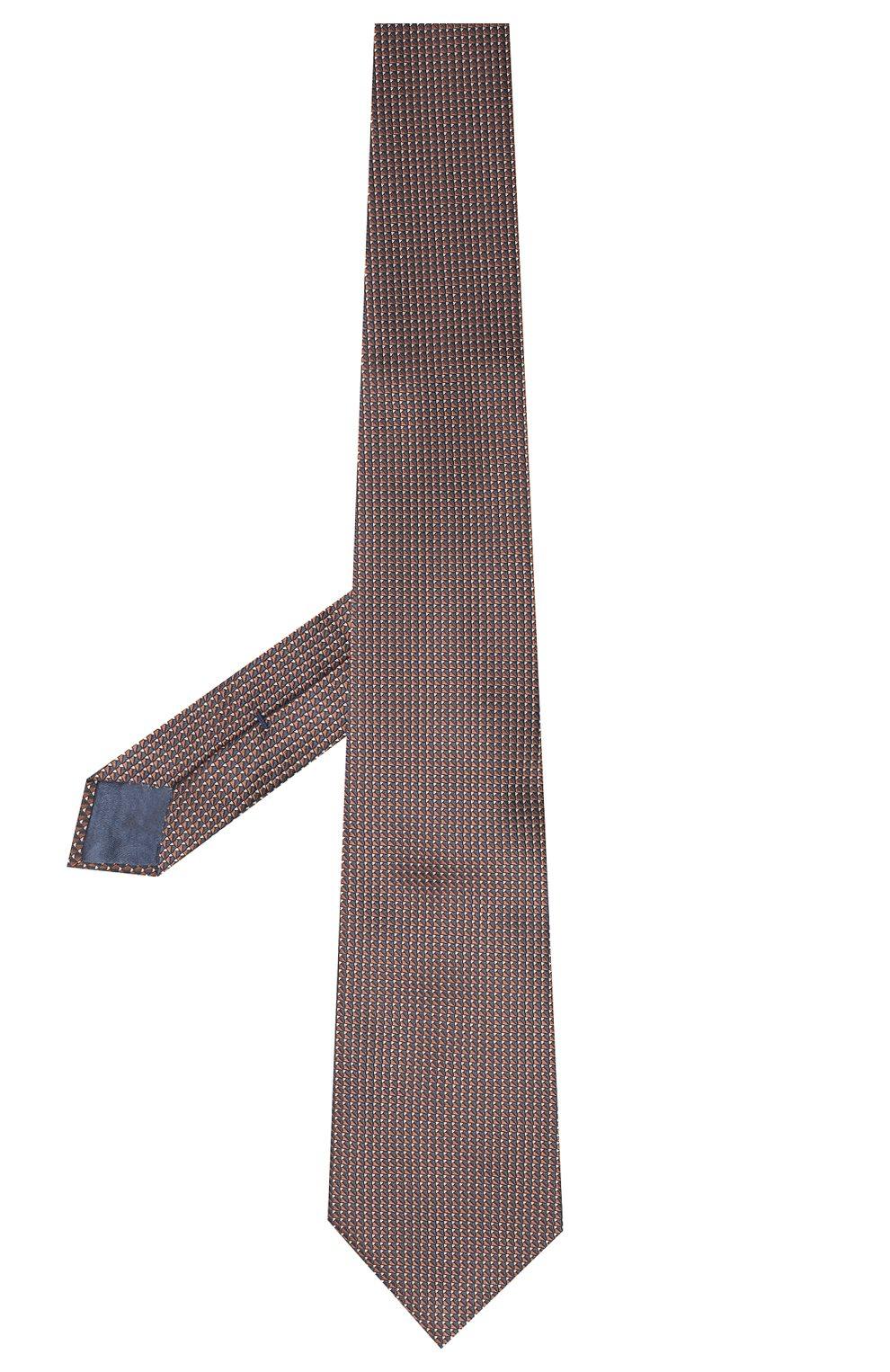 Мужской шелковый галстук BRIONI коричневого цвета, арт. 062I00/0943T | Фото 2