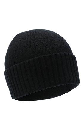 Мужская шерстяная шапка STONE ISLAND черного цвета, арт. 7319N01A3 | Фото 1