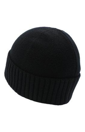 Мужская шерстяная шапка STONE ISLAND черного цвета, арт. 7319N01A3   Фото 2