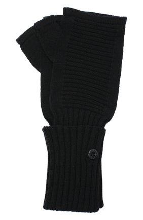 Мужские шерстяные митенки STONE ISLAND черного цвета, арт. 7319N02A3   Фото 1