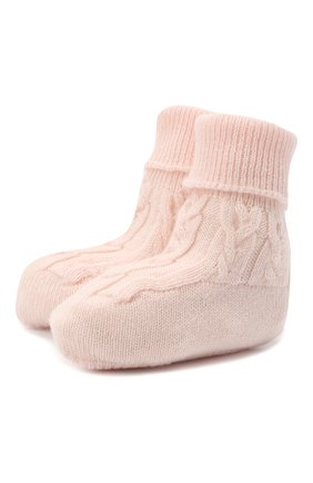 Детские кашемировые носки LORO PIANA светло-розового цвета, арт. FAI7188 | Фото 1
