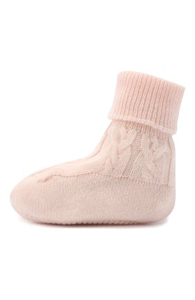Детские кашемировые носки LORO PIANA светло-розового цвета, арт. FAI7188 | Фото 2