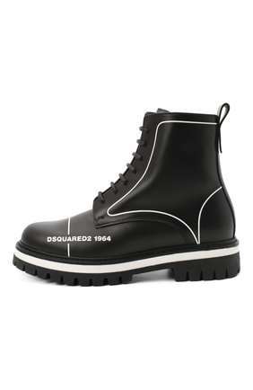 Детские кожаные ботинки DSQUARED2 черного цвета, арт. 65196/RUNNER/36-41 | Фото 2