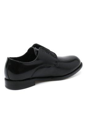 Детские кожаные дебри без шнуровки DSQUARED2 черного цвета, арт. 65202/LUX/28-35 | Фото 3