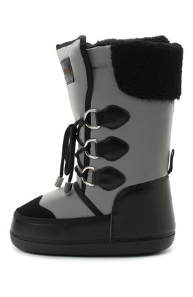 Детские кожаные ботинки DSQUARED2 черного цвета, арт. 65207/SINT.NAPPA/36-41 | Фото 2