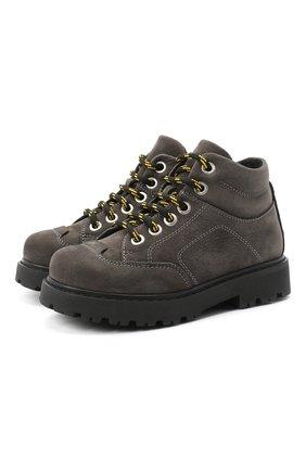 Детские кожаные ботинки MONTELPARE TRADITION серого цвета, арт. MT19207/M0RBID0NE CATRAME/28-35 | Фото 1