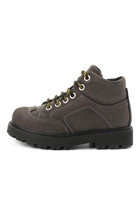 Детские кожаные ботинки MONTELPARE TRADITION серого цвета, арт. MT19207/M0RBID0NE CATRAME/28-35 | Фото 2