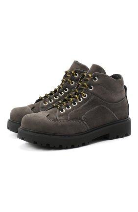Детские кожаные ботинки MONTELPARE TRADITION серого цвета, арт. MT19207/M0RBID0NE CATRAME/36-41 | Фото 1