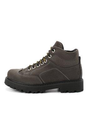 Детские кожаные ботинки MONTELPARE TRADITION серого цвета, арт. MT19207/M0RBID0NE CATRAME/36-41 | Фото 2