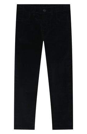 Детские хлопковые брюки DAL LAGO темно-синего цвета, арт. N111/2215/7-12 | Фото 1