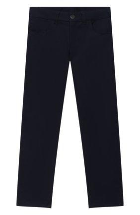 Детские хлопковые брюки DAL LAGO темно-синего цвета, арт. N111/8332/7-12 | Фото 1
