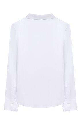 Детское хлопковая блузка DAL LAGO белого цвета, арт. R406/7537/4-6 | Фото 2