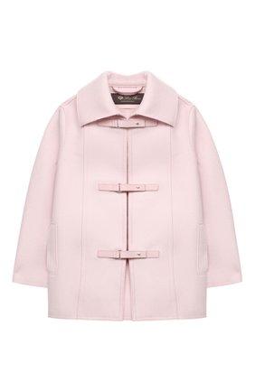 Детское кашемировое пальто LORO PIANA розового цвета, арт. FAL3155 | Фото 1