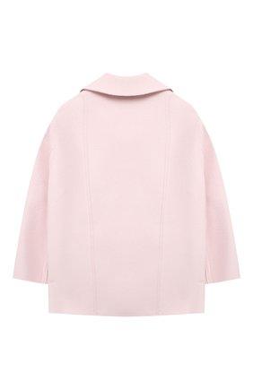 Детское кашемировое пальто LORO PIANA розового цвета, арт. FAL3155 | Фото 2