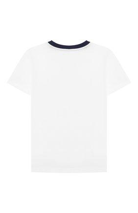 Детская хлопковая футболка POLO RALPH LAUREN белого цвета, арт. 323785958 | Фото 2
