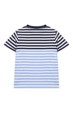 Детская хлопковая футболка POLO RALPH LAUREN голубого цвета, арт. 321786418 | Фото 2