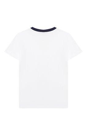 Детская хлопковая футболка POLO RALPH LAUREN белого цвета, арт. 321785958 | Фото 2