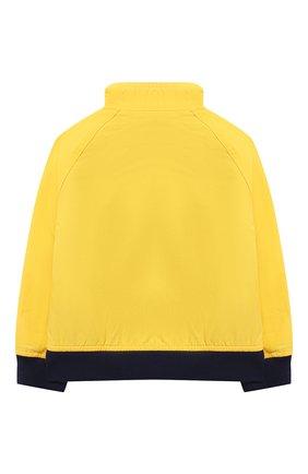 Детского хлопковая куртка POLO RALPH LAUREN желтого цвета, арт. 321785763 | Фото 2