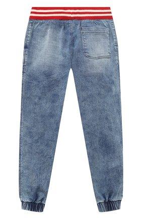 Детские джинсовые джоггеры POLO RALPH LAUREN синего цвета, арт. 321784324   Фото 2